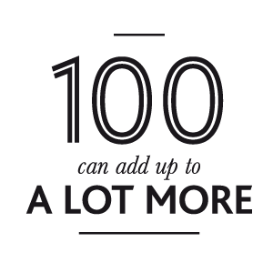100 women adds up to more